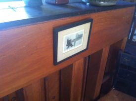 A portrait of Brahms that Ives had affixed to the back of the upright piano in his West Redding, Conn., home.