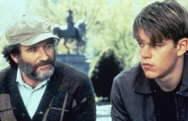 "Robin Williams appeared with Matt Damon in ""Good Will Hunting."""