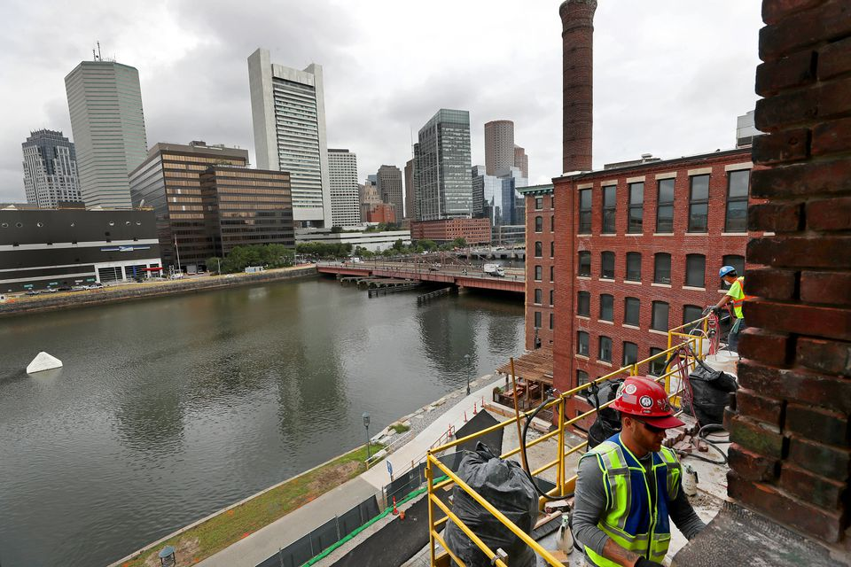 Work was underway in August on General Electric's Fort Point offices.