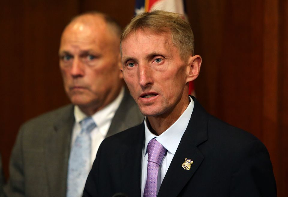 Boston Police Department Commisioner William B. Evans at a recent press conference.