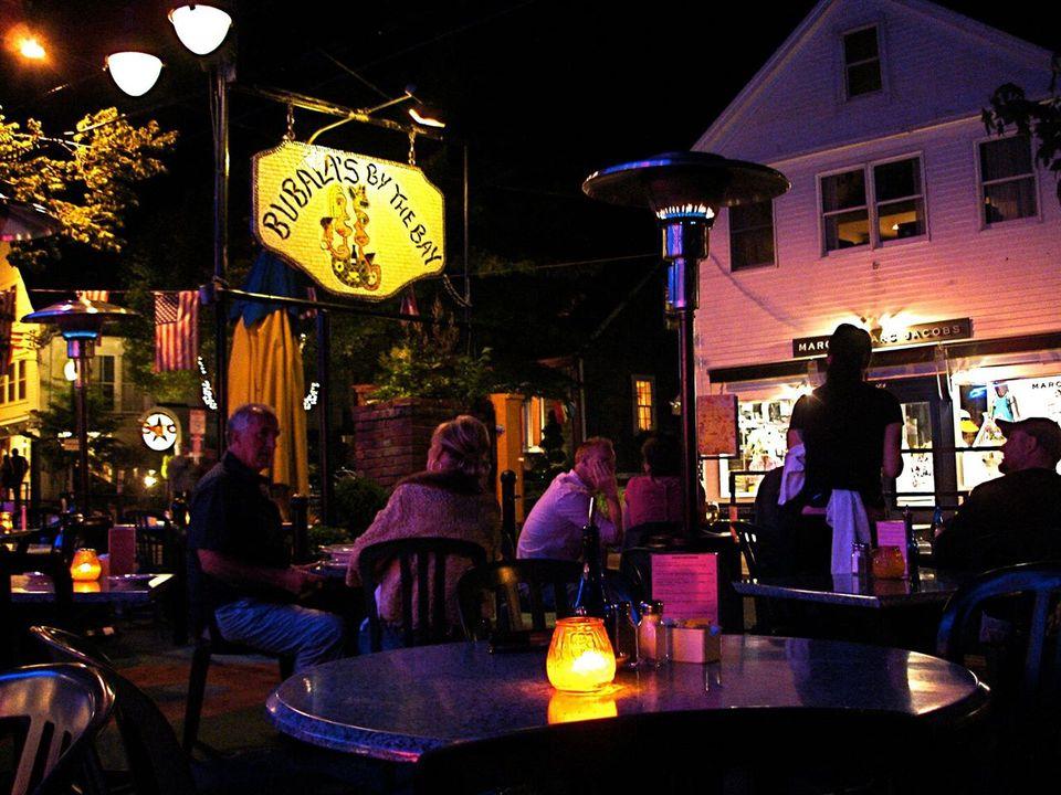 Bubalas' Patio at night in Provincetown.