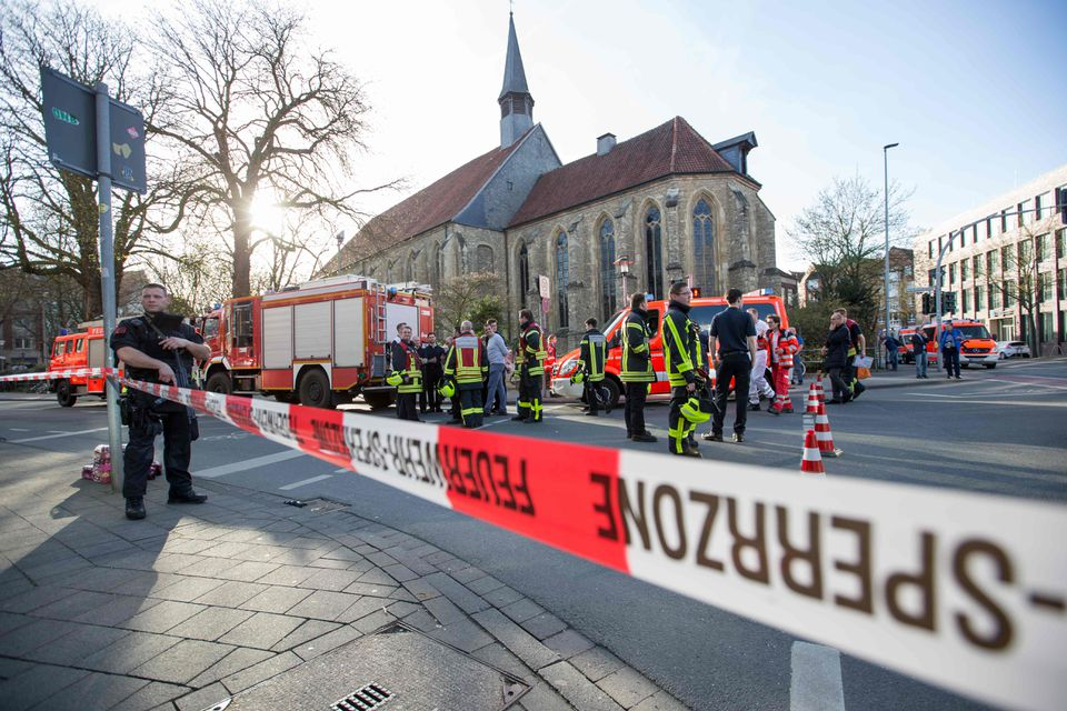 Police in Münster, Germany, had cordoned off the Old City while they examined evidence after a deadly car attack.