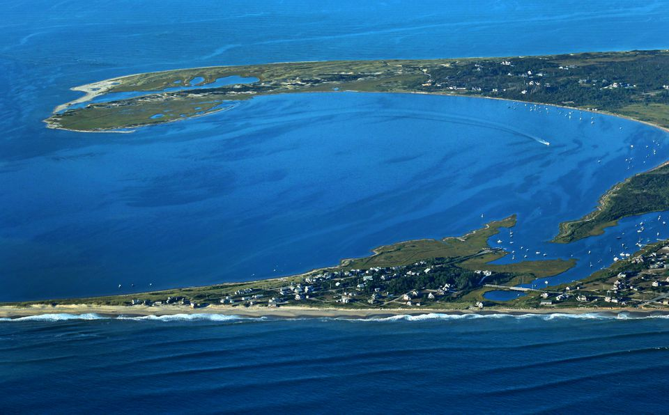 Real estate agents say that demand for rentals on Cape Cod, Martha's Vineyard, and Nantucket is up strongly this year — along with the prices. Above: A view of Madaket Harbor off Nantucket.