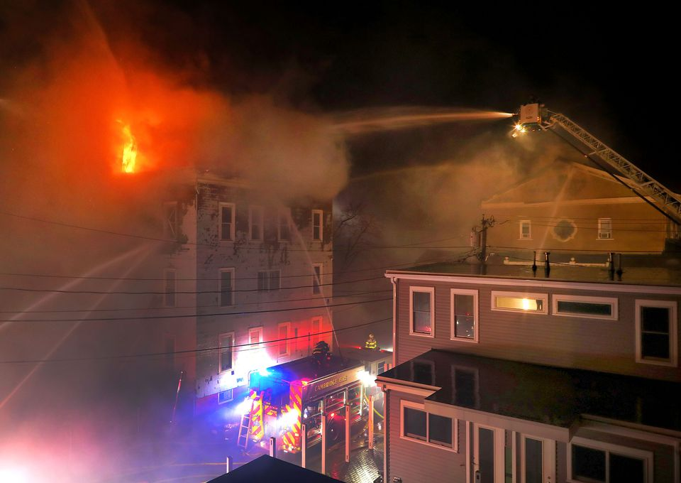 Firefighters battled a 10-alarm fire at Berkshire and York streets in Cambridge.