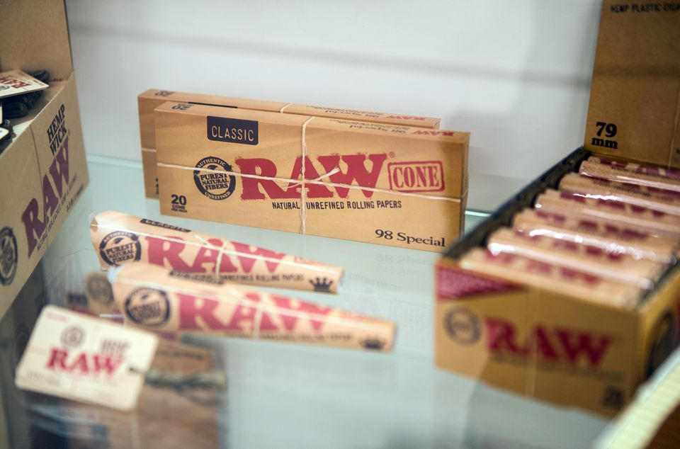 RAW rolling papers will be carried at the dispensary.