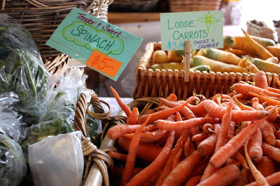 Produce at the farmer's market.