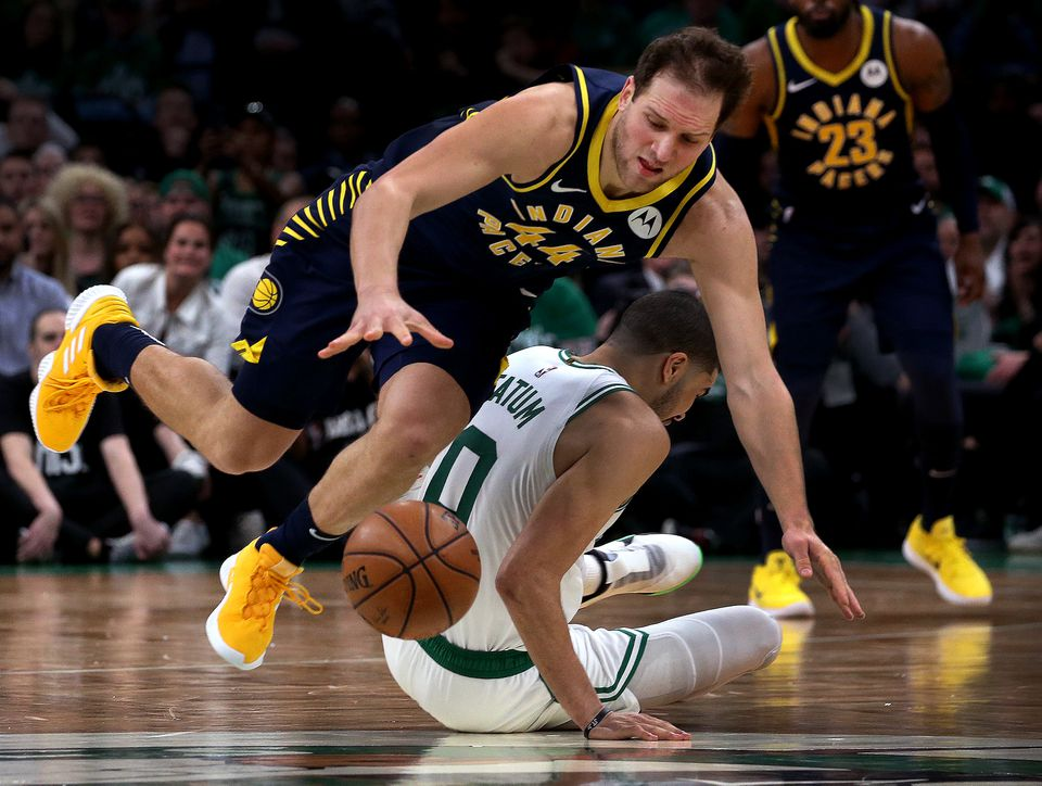 Bojan Bogdanovic was the Pacers' top scorer when Victor Oladipo was injured. The Pacers will not have him under contract next year.