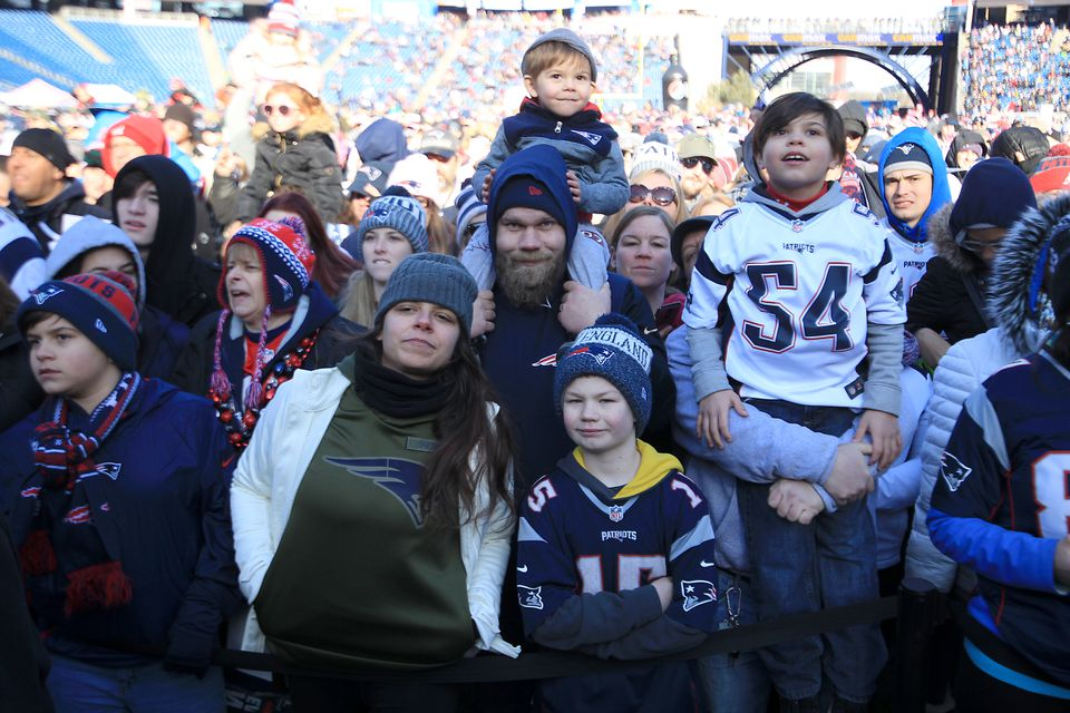 Patriots fans attended the Patriots rally at Gillette Stadium on Sunday.