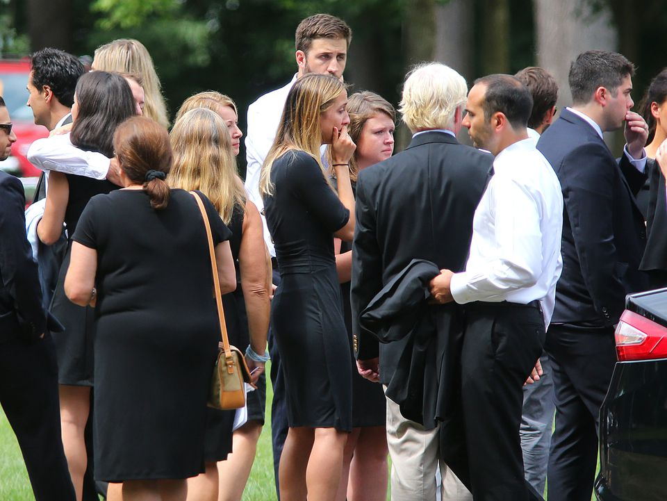 Mourners attended Vanessa Marcotte's funeral in Leominster on Aug. 16.