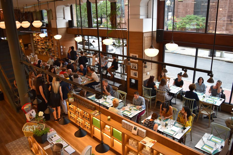 """The Yoleni's in Providence is the brand's second location, and the first in the United States. Not surprisingly, the """"experience store"""" is often referred to as a """"Greek Eataly."""""""
