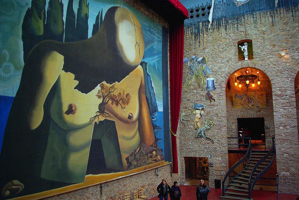 <b/>Interior view of the Dalí Theatre-Museum in Salvador Dalí's hometown of Figueres.