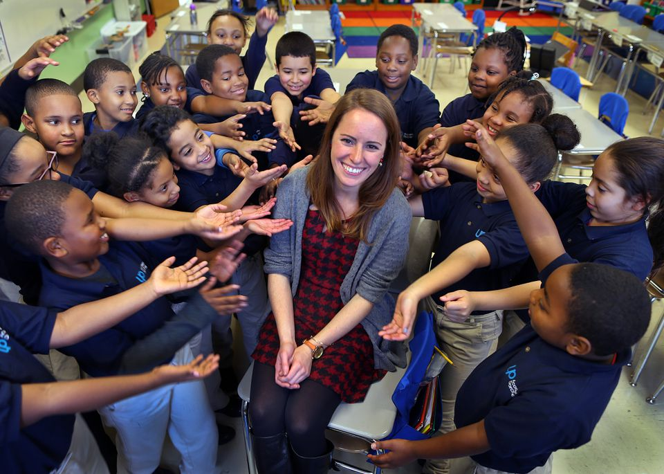 Nicole Bollerman's teaching and generosity gave her third grade class at UP Academy Dorchester many reasons to smile.