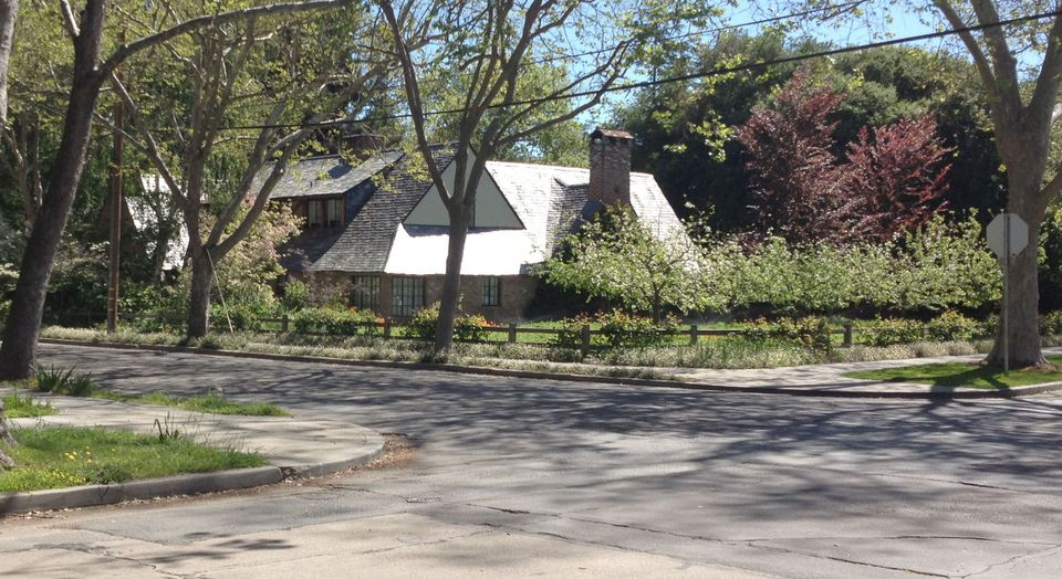 Steve Jobs lived in this relatively unpretentious Palo Alto, Calif., house from 1992 until his death last year. The double lot accommodated his wife, Laurene's, garden.