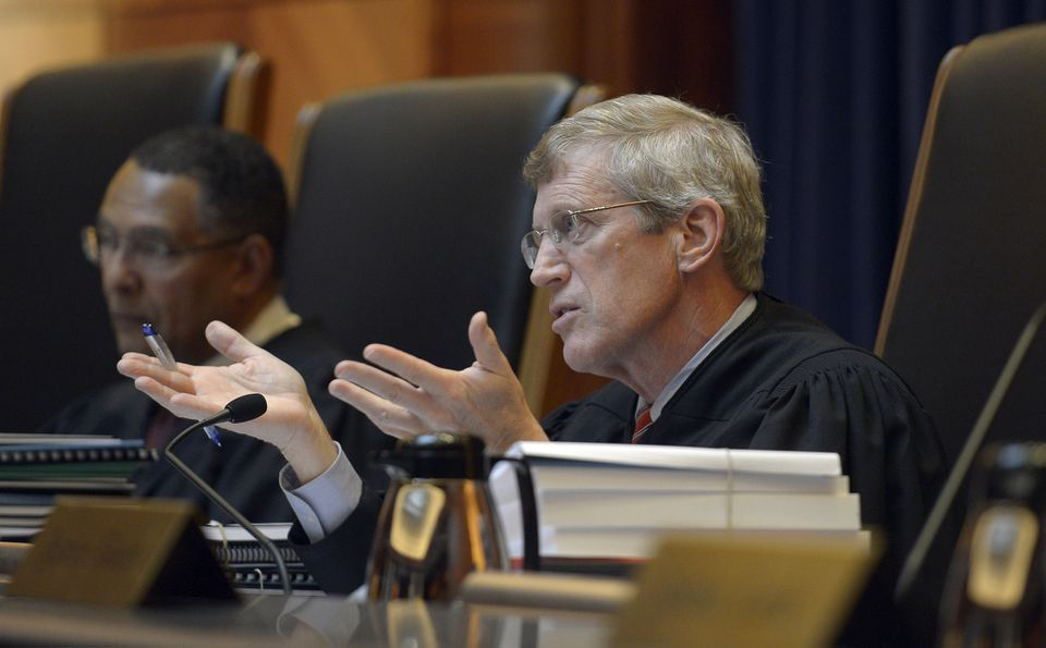 Justice Robert J. Cordy questioned attorney Thomas O. Bean.