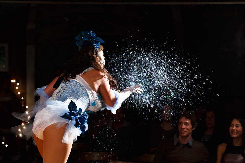 The Brazen Belles burlesque troupe performs shows throughout Cape Cod.