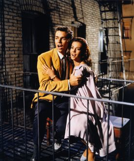"Marni Nixon dubbed the vocals of Natalie Wood (with Richard Beymer) in the 1961 film ""West Side Story."""