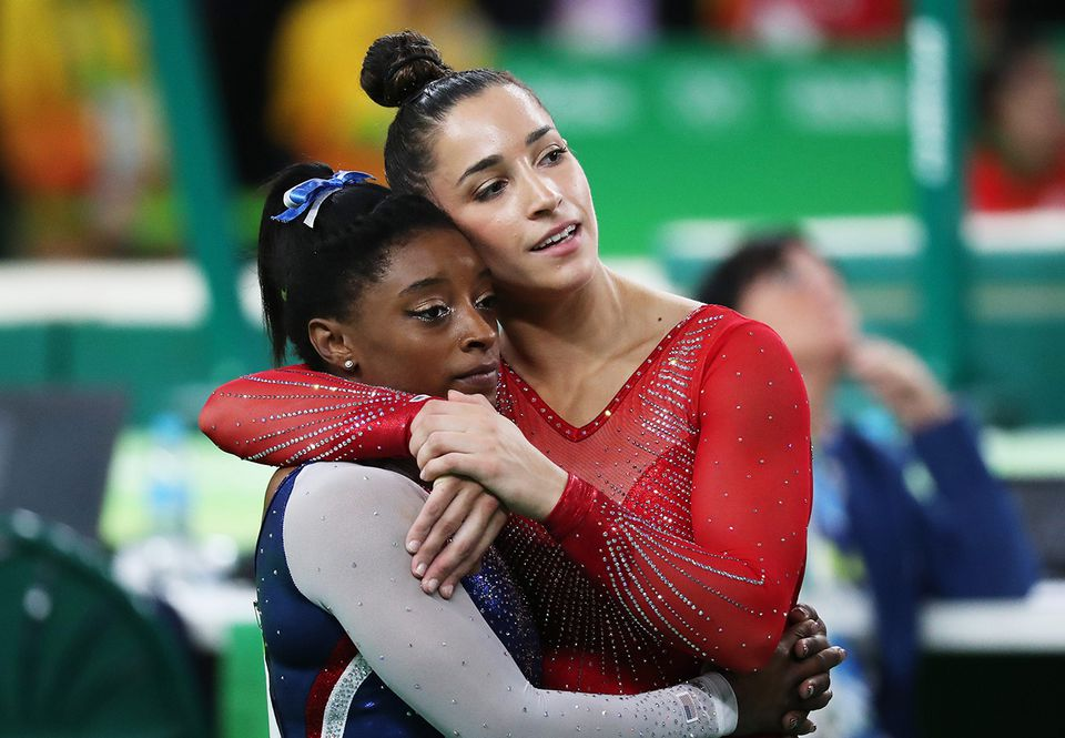 Simone Biles (left) and Aly Raisman were articulate and informed advocates during the USA Gymnastics sexual abuse scandal.