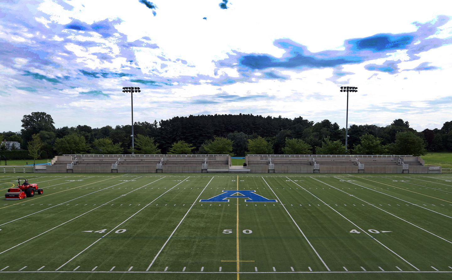 The football field at Phillips Academy.