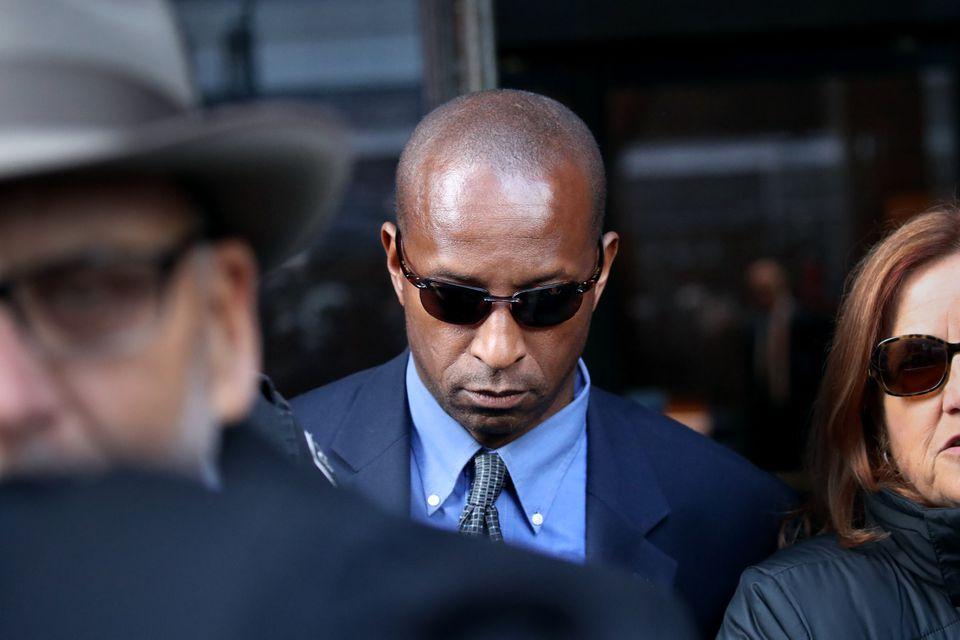 Rudy Meredith left the Moakley Courthouse after pleading guilty.