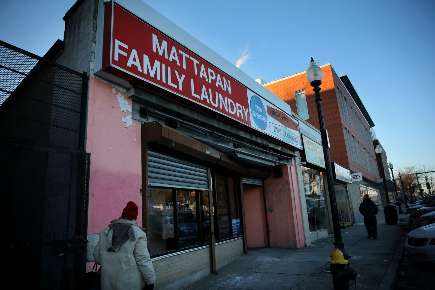 Tito Jackson hopes to open his pot store in this laundromat facility on Blue Hill Avenue.