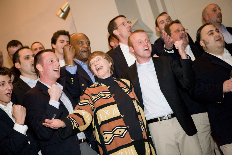 "At a reunion concert in 2008, Sue Alexander, dean of students emeritus, joined <span channel=""!BostonGlobe/S1_REG-01"">in singing a few numbers </span>with the Gentlemen Callers<span channel=""!BostonGlobe/S1_REG-01""> who returned to Wheaton College</span>."