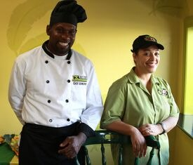 Shawn and Noyan Edmond specialize in stews, jerks, and patties at Rite Spice Caribbean in Lynn.