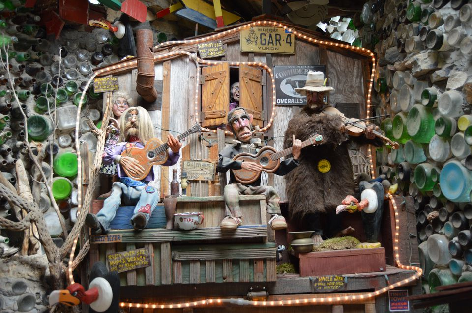 Coin-operated animatronic band at the Tinkertown Museum in Sandia Park.