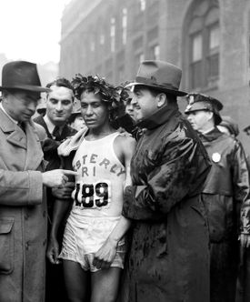"""When Ellison M. """"Tarzan"""" Brown won the 1939 Boston Marathon, the crowd at the finish line was smaller — and the prize money was nonexistent."""