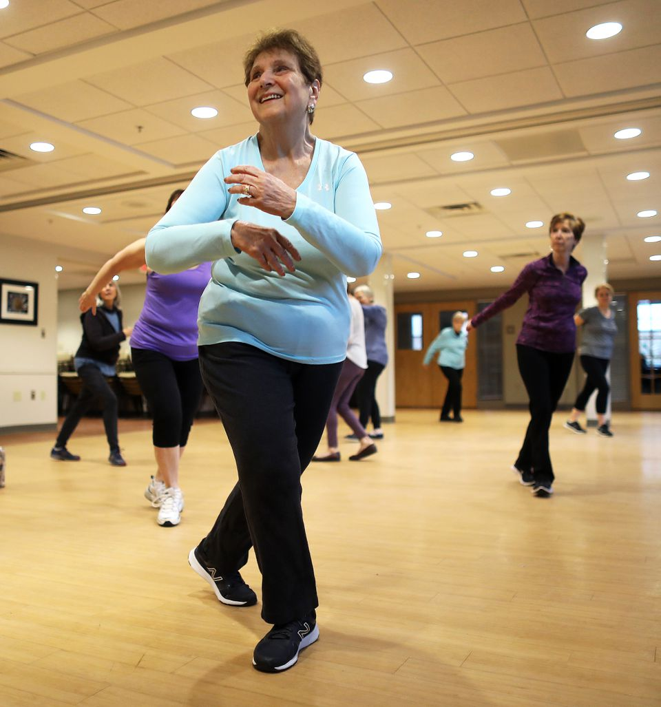 Susan Wolkon, 76. took part in the Zumba Gold class at the Sharon Adult Center ...