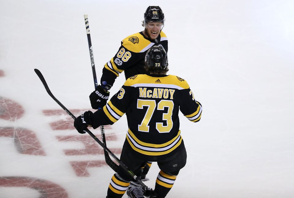 Bruins defenseman Charlie McAvoy had not celebrated the holidays at home in two years  — until he turned professional.