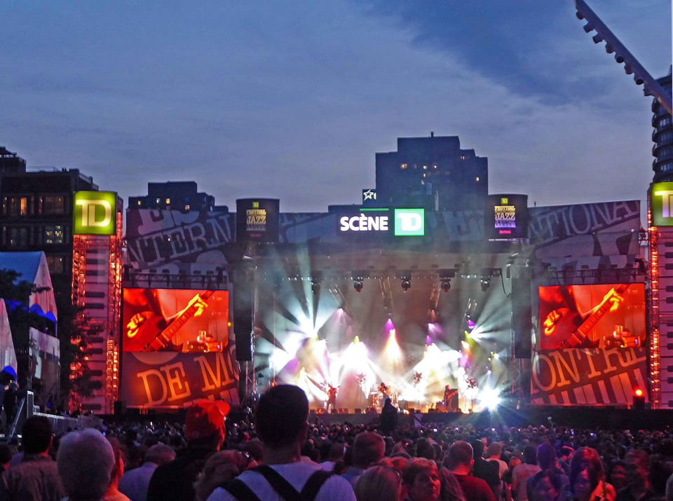Free outdoor concerts draw the largest audiences at the Montreal Jazz Festival.