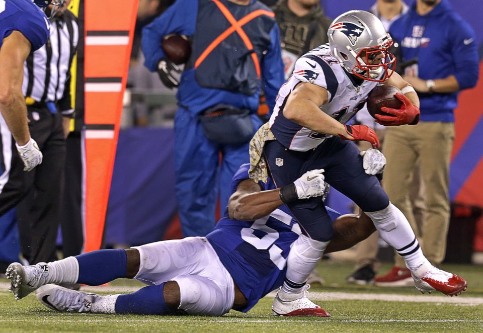 Julian Edelman was leading the Patriots in receptions (61) and was second in receiving yards (692) when he was hurt.