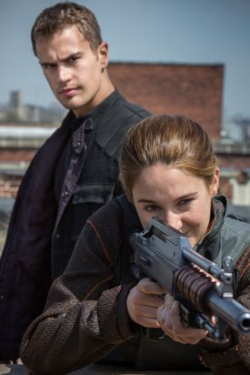 "Theo James and Shailene Woodley star in ""Divergent."""