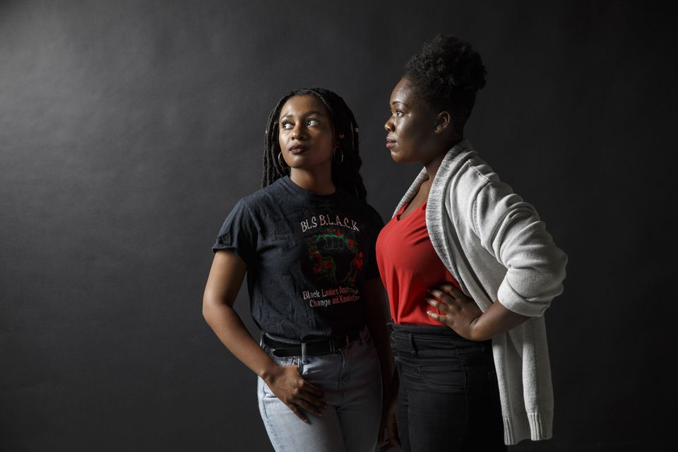 They were just teenagers, but Kylie Webster-Cazeau (left) and Meggie Noel shook up one of Boston's hallowed institutions.