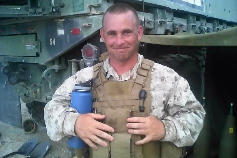 Marine Gunnery Sergeant Thomas Sullivan, 40, survived two tours of duty in Iraq and earned a Purple Heart.