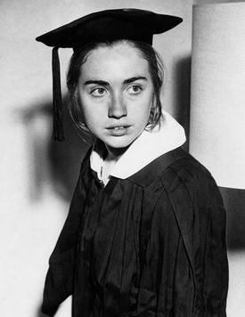 Hillary Clinton as a Wellesley College senior in 1968.