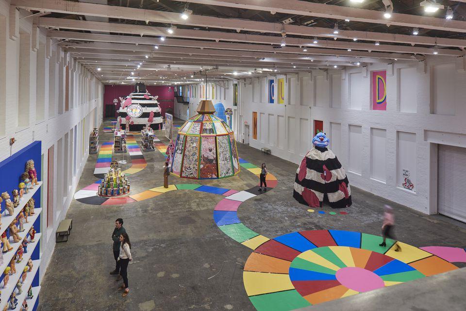 The exhibition inside Mass MoCA's building 7.