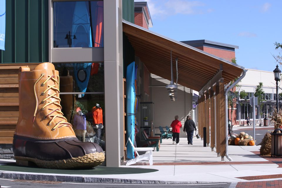 The L.L. Bean store at Legacy Place in Dedham. The new Seaport District store will be among the retailer's smallest  at 8,600 square feet.