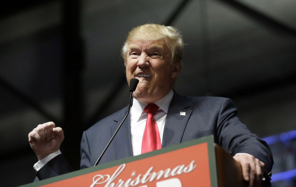 Republican presidential candidate Donald Trump addressed supporters at a campaign rally Monday in Grand Rapids, Michigan.