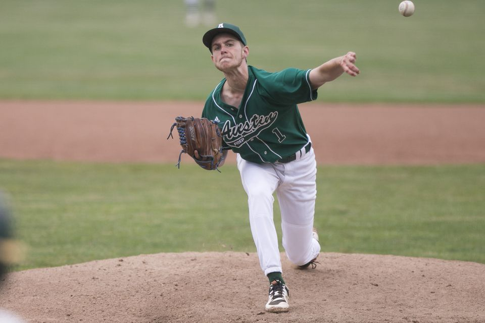 Cam Seguin pitched a complete-game two-hitter while striking out 10 for Austin Prep.