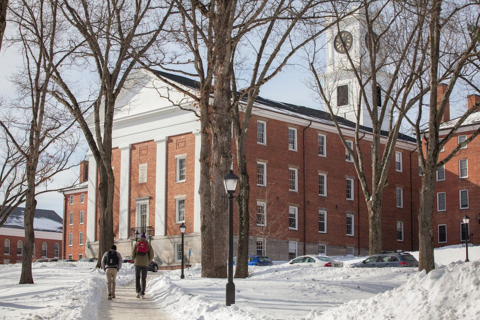 Students walked on the campus of Amherst College in Amherst.