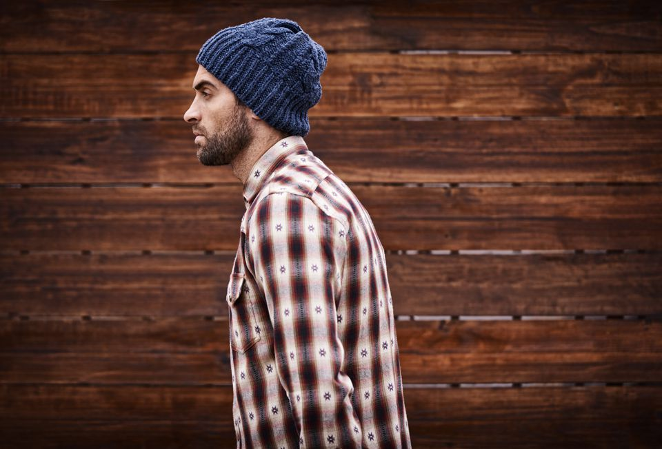 "A man thought this stock photo of ""a handsome young man in trendy winter attire against a wooden background"" was him. He saw it in an MIT story about hipsters and accused the university of using his image without his permission. It wasn't him, just a generic stock photo of a model."