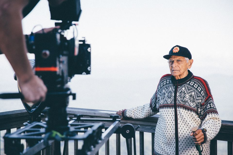 Joe Lahout Sr. during filming of a new video about his life.