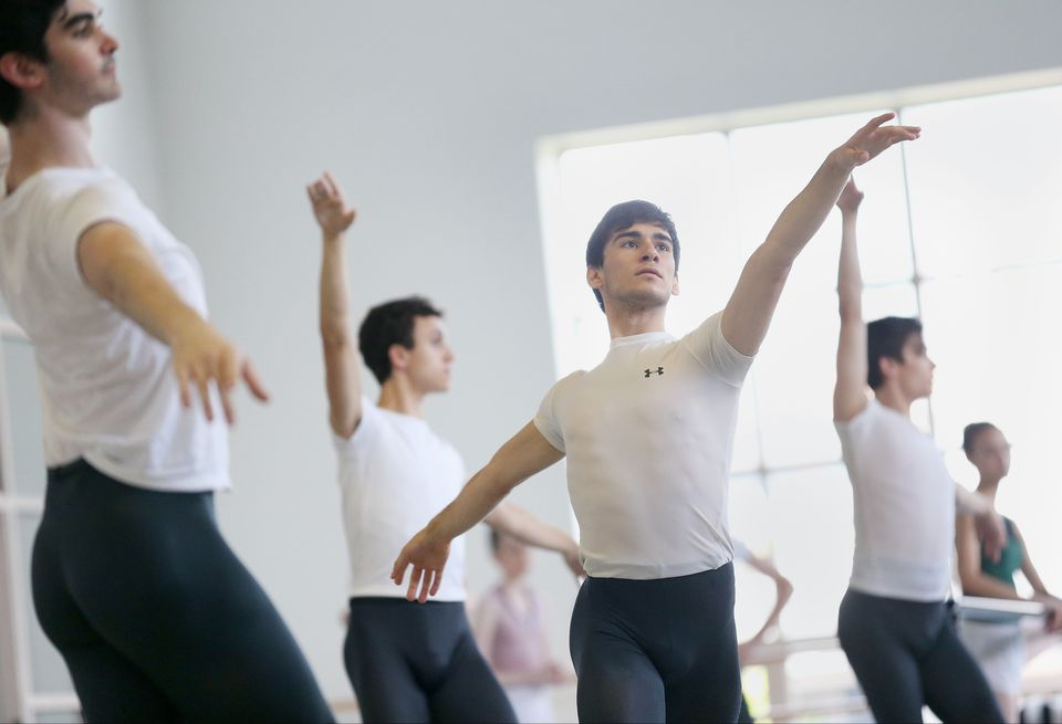 """Boston Ballet II dancers rehearse for """"First Look."""""""