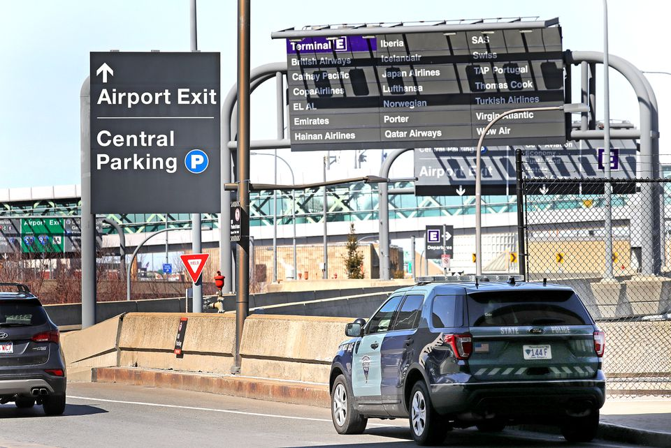 State Police troopers in Troop F patrol Logan International Airport, the Seaport, and other Massachusetts Port Authority properties.