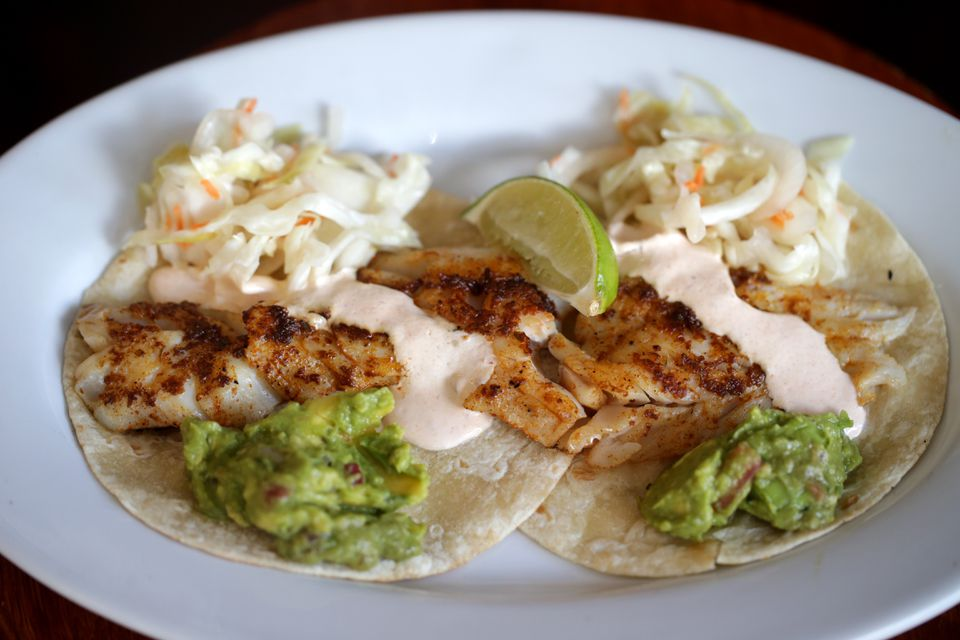 Fish tacos at Scratch Kitchen in Salem.