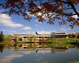 Sally Harkness was a principal designer of the Olin Arts Center at Bates College in Lewiston, Maine.