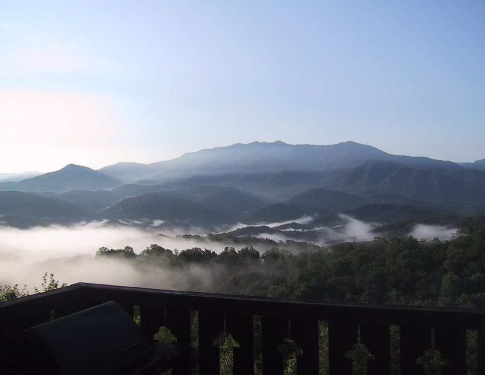 View from Foxtrot Bed and Breakfast in Gatlinburg.
