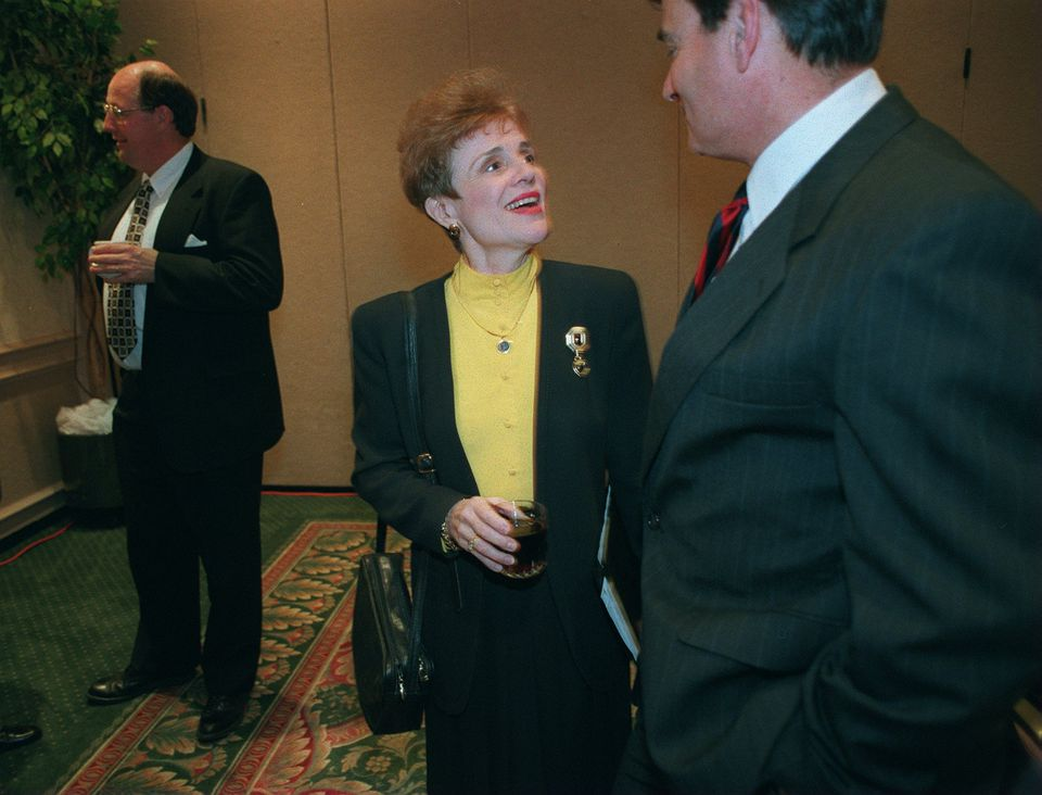 Sherry Penney, then-new Chancellor of UMass, talked with Peter Cressy,  the Chancellor or UMass Dartmouth in 1995.