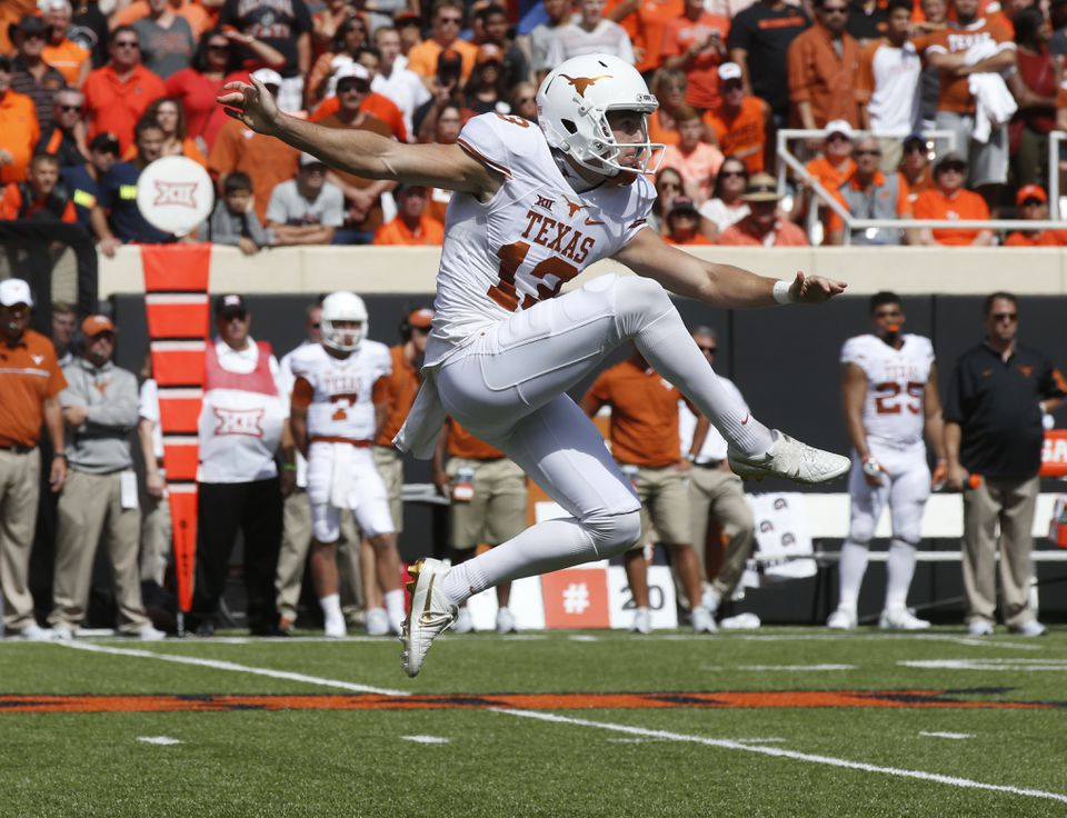 Texas punter Michael Dickson has a background in Australian Rules Football.